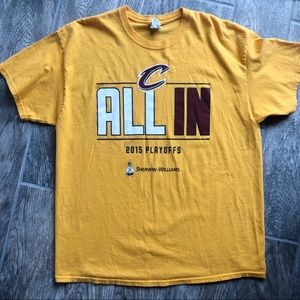 Shirts - 3/$20 Cleveland Cavs Yellow 2015 Playoffs Tee